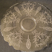 "Tiffin ""June Night"" Pattern Round Sandwich Plate"