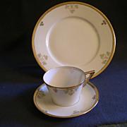 "Set of 6 - (18 Pcs.) -  ""Shamrock Pattern""  Hand Painted Porcelain Luncheon Plates,"