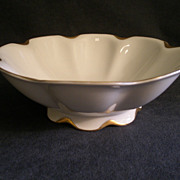 """Charles Haviland & Co. Limoges """"Silver Anniversary"""" Round Open Serving Bowl w/Raised"""