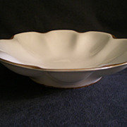 """Charles Haviland & Co. Limoges """"Silver Anniversary"""" Round Open Serving Bowl w/Flat B"""