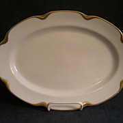 """Charles Haviland & Co. Limoges """"Silver Anniversary"""" Small Oval Serving Platter- Schl"""