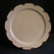 """Charles Haviland & Co. Limoges """"Silver Anniversary"""" Large Round Chop Plate- Schleige"""