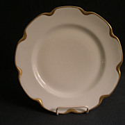 """Set of 4 - Charles Haviland & Co. Limoges """"Silver Anniversary"""" Luncheon Plates - Sch"""