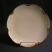"""Set of 5 - Haviland & Co. Limoges """"Silver Anniversary"""" Coup Salad Plates - Schleiger"""