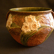 "Roseville Pottery ""Jonquil"" Jardinere  #621-6 w/Handles"