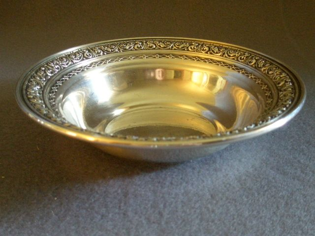Dominick & Haff Sterling Silver Repousse Pattern Sauce or Nut Bowl