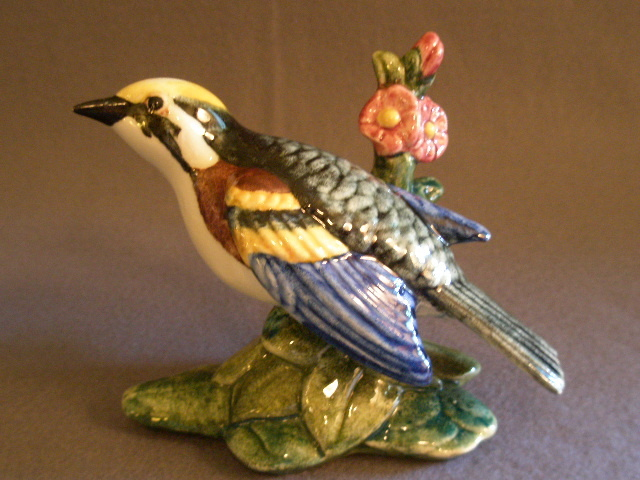 "Stangl Pottery ""Chestnut Sided Warbler"" Bird Figurine"