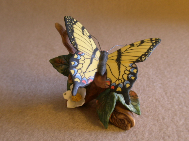 """Lefton China """"Swallowtail"""" Butterfly Figurine"""