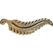 Alfredo Villasana Sterling Silver 'Feather' or 'Plume' Brooch
