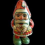J Chein Co. 'Walking Santa' Tin Wind-Up Toy