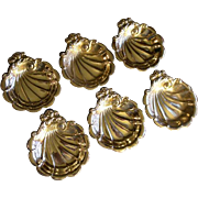 Set of 6 Lunt Sterling Silver 'Summer Song' Pattern Nut Cups