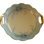 "Luken Studio Hand Painted ""Forget-Me-Not"" Pattern Round Candy/Nut/Relish Dish"