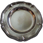 Edward, Edward Jnr, John & William Barnard London Sterling 'Georgian Plate w/Gadroon Border &