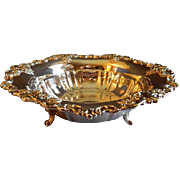 "Vintage Wallace ""Baroque"" Pattern Silverplated Console Fruit Bowl"