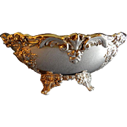 """Vintage Reed & Barton """"King Francis"""" Pattern Silverplated Oval Footed Console Bowl"""