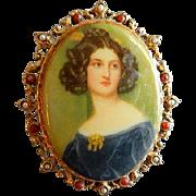 """""""Art"""" or """"Art Mode"""" Victorian-Style Portrait Brooch"""
