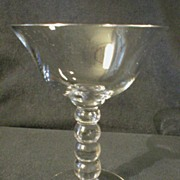 """Set of 6 Imperial """"Candlewick"""" Champagne/Tall Sherbets with 4-Bead Stem"""