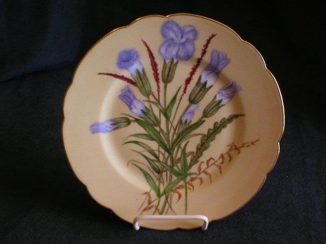 Haviland China Plate - H.P. Floral - Artist Signed