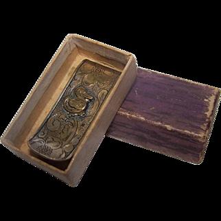 Baby Napkin Clip  Duck Holder Original Box