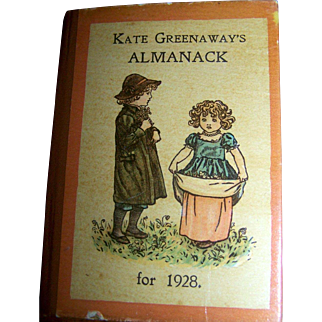 Hard To Find Kate Greenaway Almanac For 1928