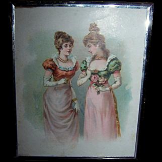 Tri-Fold Mirror With  Original Box