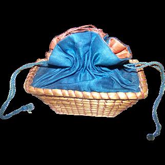 Miniature Drawstring Sewing Basket