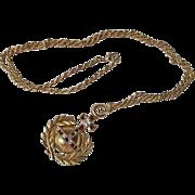 Vintage Gold Plated Butler & Wilson Orb Pendant