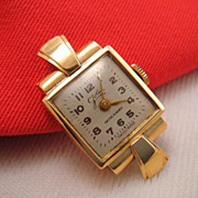 18K Yellow Gold Art Deco Vintage Watch Swiss Made 15 Rubies