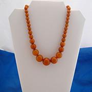 Vintage Gorgeous Butterscotch Beads Bakelite Necklace