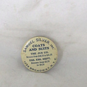 Vintage Sewing Advertisement Tape Measure Mirror