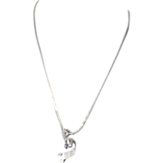 Vintage Custom Navajo Sterling Silver Kokopelli Necklace