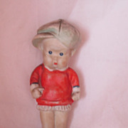 Vintage Pudgy Face Japanese Bisque Doll Circa 1930's
