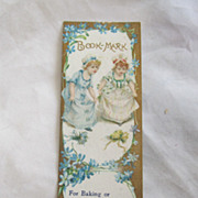 "Antique ""Richmond Range"" Advertising Book Mark Circa 1900"