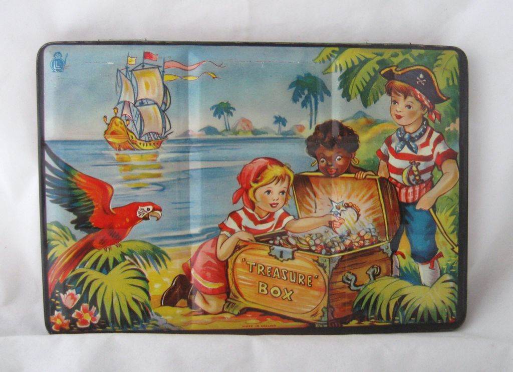 Vintage Circa 1950 English Made Children's Tin Water Color Set