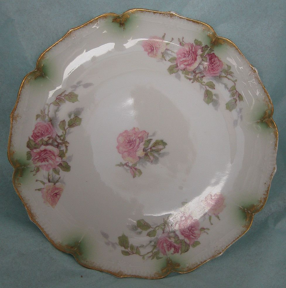 Vintage Haviland Limoges Pink Rose Plate Gorgeous !