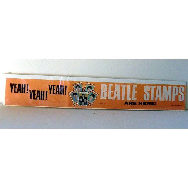 Scarce 1964 Beatles Store Display Paper Advertising Banner
