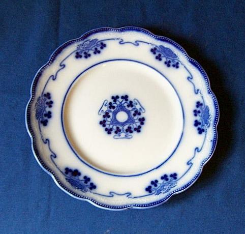 Antique Flow Blue Dinner Plate Lorne Pattern By Grindley