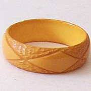 SALE! Outstanding 1930's Deeply Carved Bakelite Bracelet