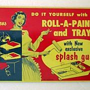 Vintage Advertising Tin Splash Guard Colorful Graphics