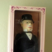 """Large 18 Inch Steiff Doll """"Man In Morning Coat"""" With Box"""