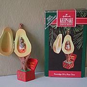 "Hallmark Ornament ""Partridge IN a Pear Tree"" 1992"