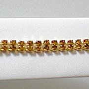 Lovely Amber Colored Rhinestone Bracelet