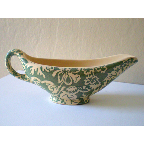 Vintage Wallace China Floral Gravy Boat Restaurantware