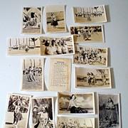1950's Photograph Set  (14) Hawaiian Hula Girls