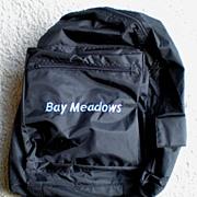 Vintage Bay Meadows Horse Race Track Backpack