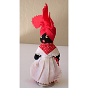 Vintage Black Mammy Souvenir Doll and Bell