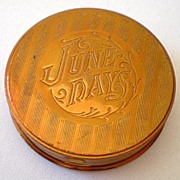"Vintage ""June Days"" ""Night Fall"" Compact Rouge Pot"