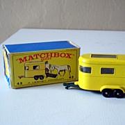 1968 Lesney Matchbox Pony Trailer Mint in Original Box #43
