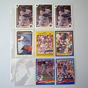 (8) Ken Griffey Jr. Baseball Trading Cards