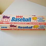 Complete Set Factory Sealed 1991 Topps Baseball